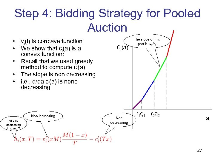 Step 4: Bidding Strategy for Pooled Auction • vi(l) is concave function • We