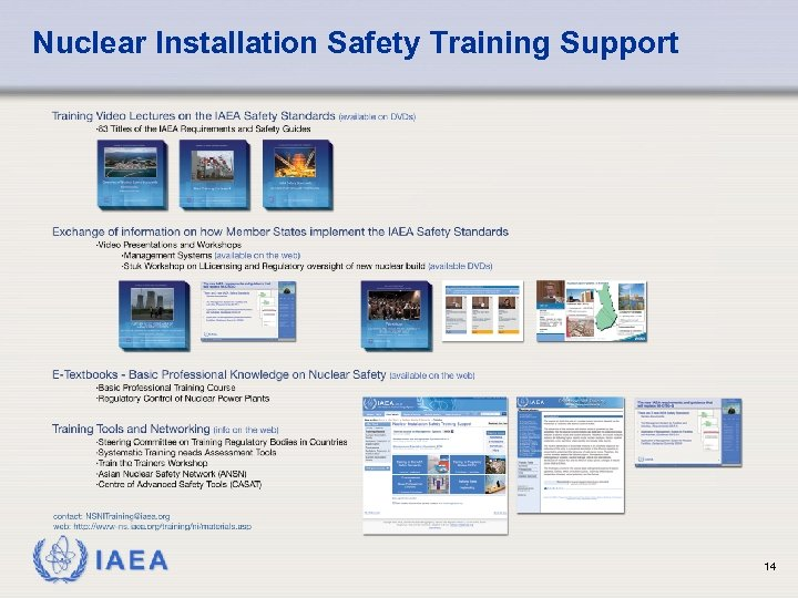 Nuclear Installation Safety Training Support IAEA 14