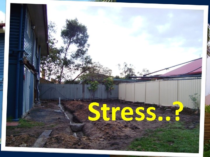 Stress. . ?