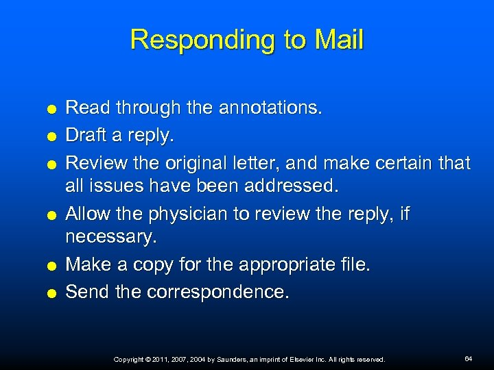 Responding to Mail Read through the annotations. Draft a reply. Review the original letter,