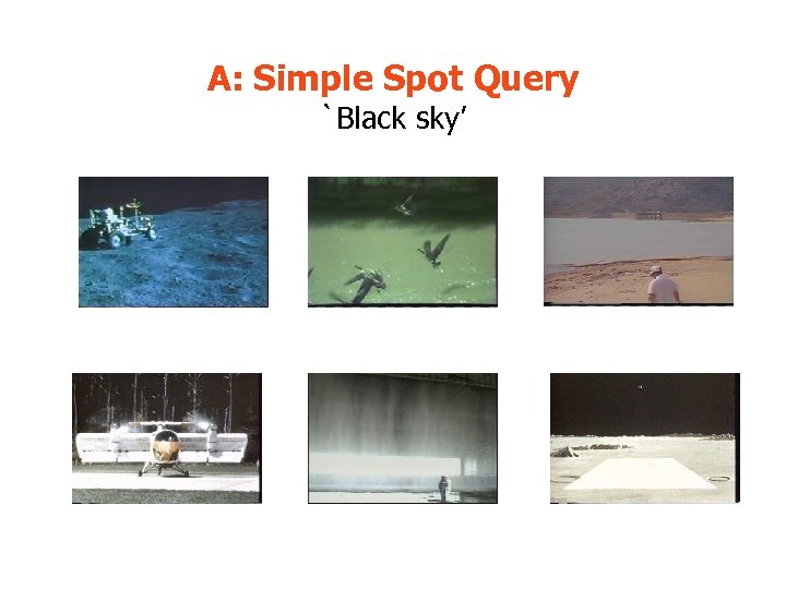 A: Simple Spot Query `Black sky'
