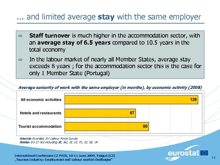 . . . and limited average stay with the same employer ð Staff turnover