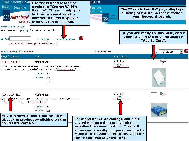"""Use the refined search to conduct a """"Search Within Results"""". This will help you"""