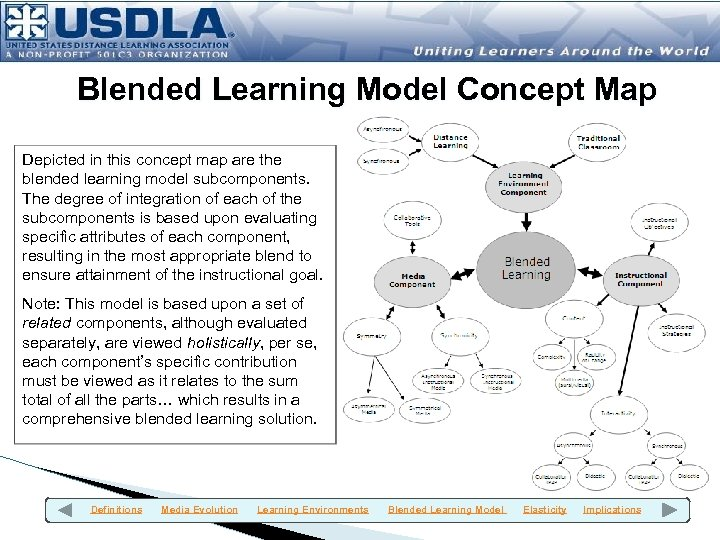 Blended Learning Model Concept Map Depicted in this concept map are the blended learning