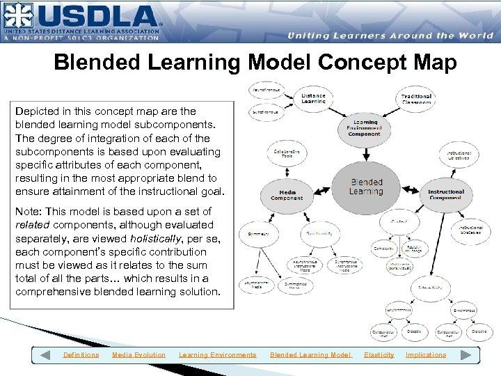 Blended Learning Model Concept Map Depicted in this concept map are the blended learning