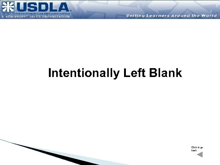 Intentionally Left Blank Click to go back