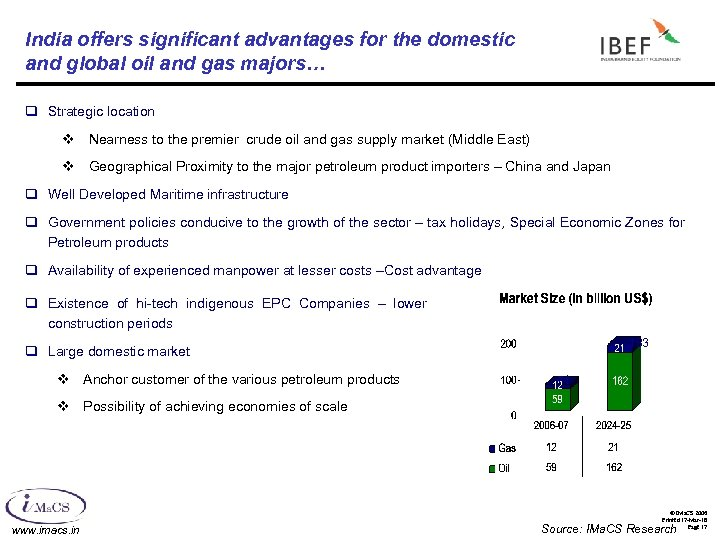 India offers significant advantages for the domestic and global oil and gas majors… q