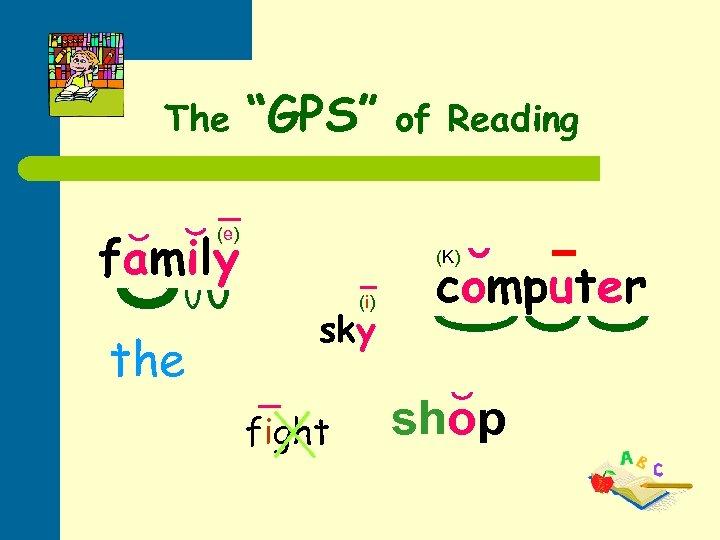 """The """"GPS"""" fa m il y of Reading (e ) (K ) (i )"""