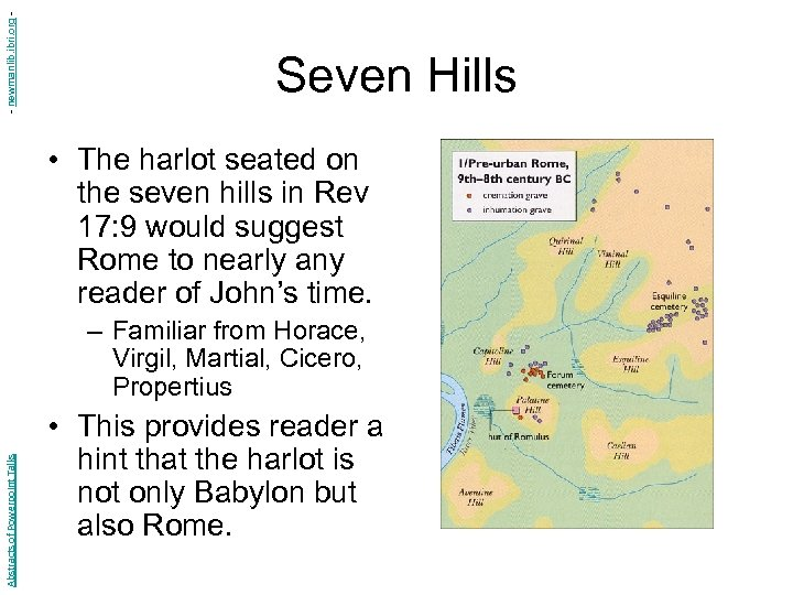 - newmanlib. ibri. org - Seven Hills • The harlot seated on the seven