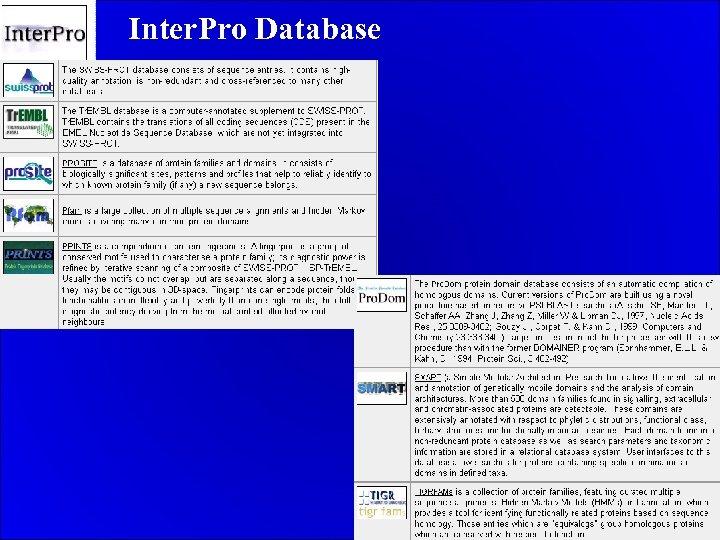 Inter. Pro Database.