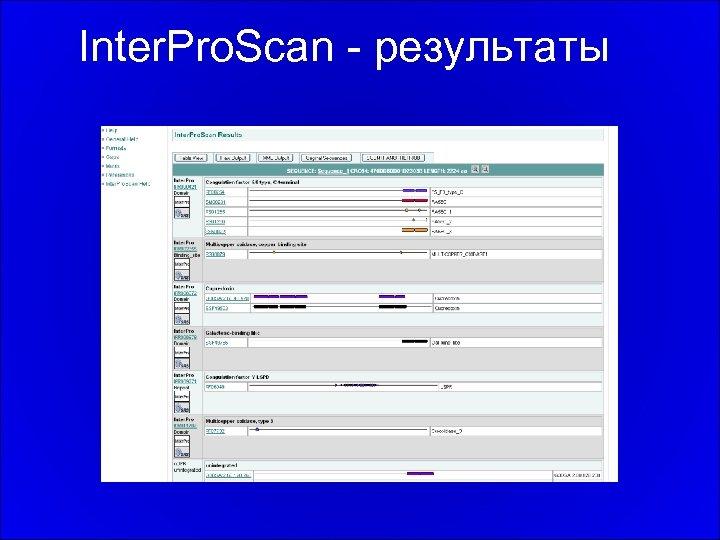 Inter. Pro. Scan - результаты
