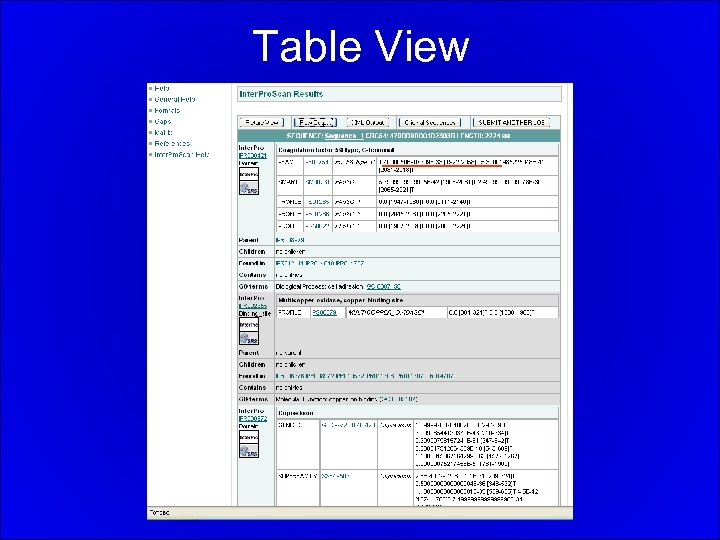Table View