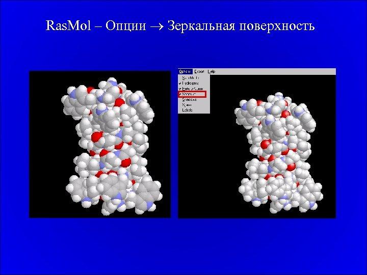 Ras. Mol – Опции Зеркальная поверхность