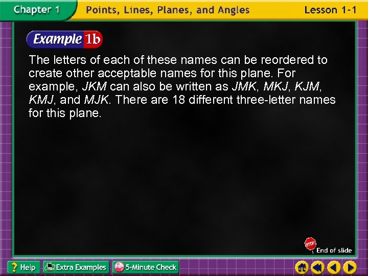 The letters of each of these names can be reordered to create other acceptable