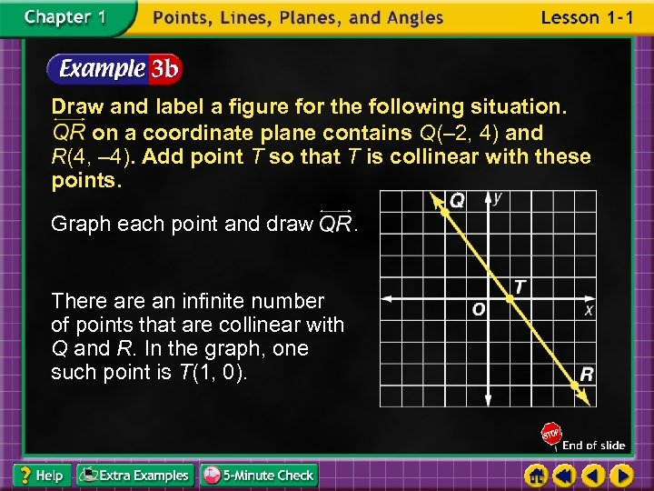 Draw and label a figure for the following situation. on a coordinate plane contains