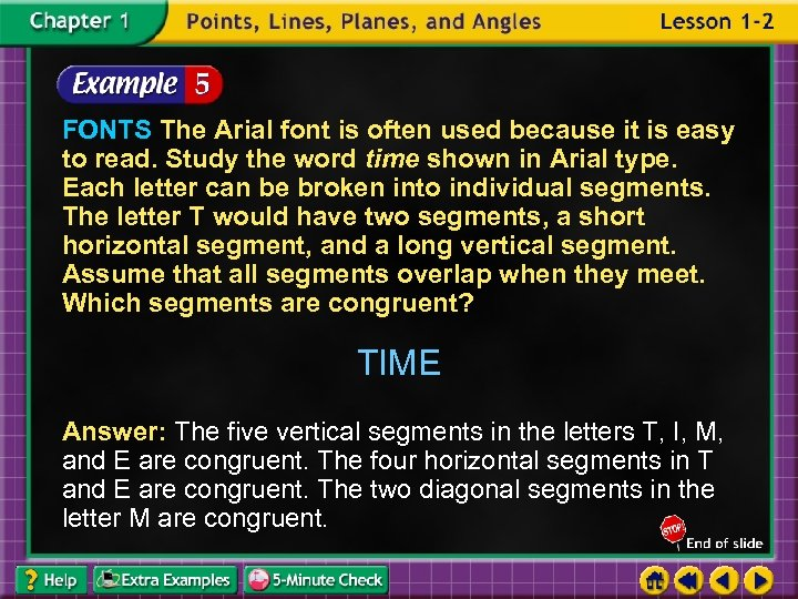 FONTS The Arial font is often used because it is easy to read. Study
