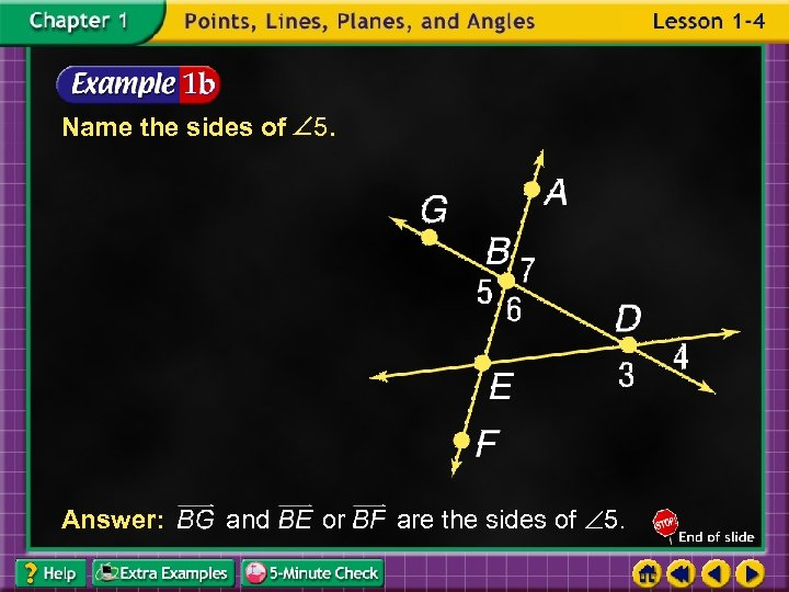 Name the sides of 5. Answer: and or are the sides of 5.