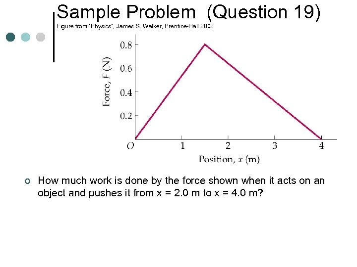 "Sample Problem (Question 19) Figure from ""Physics"", James S. Walker, Prentice-Hall 2002 ¢ How"