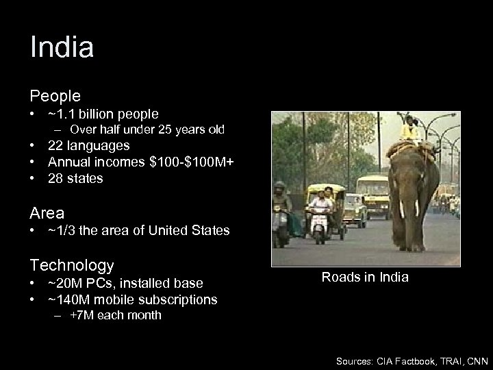 India People • ~1. 1 billion people – Over half under 25 years old