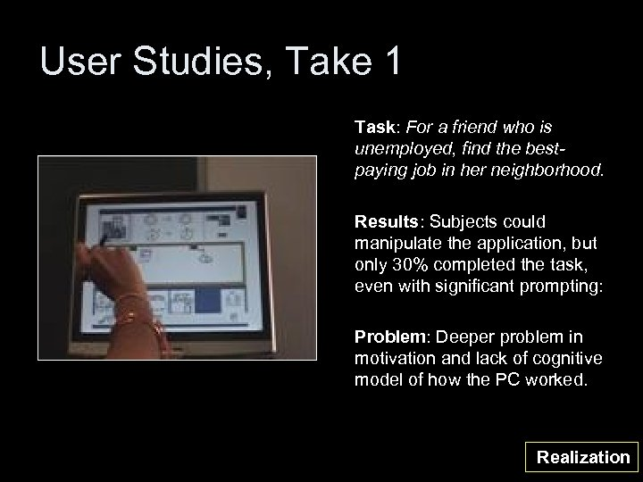 User Studies, Take 1 Task: For a friend who is unemployed, find the bestpaying