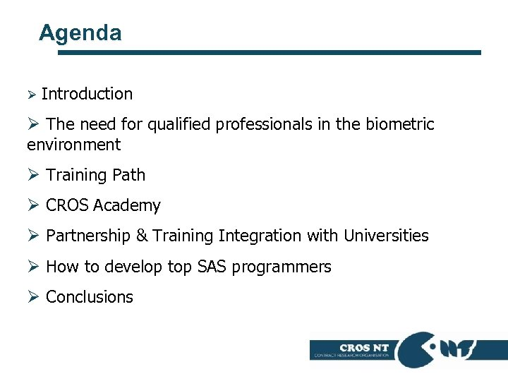 Agenda Ø Introduction Ø The need for qualified professionals in the biometric environment Ø