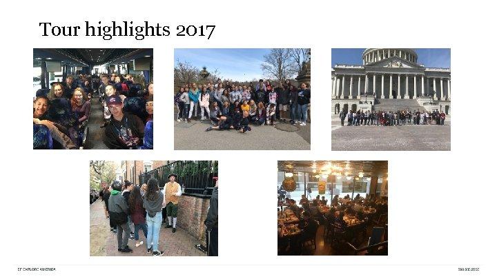 Tour highlights 2017