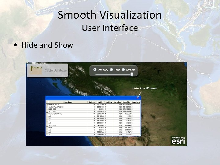 Smooth Visualization User Interface • Hide and Show