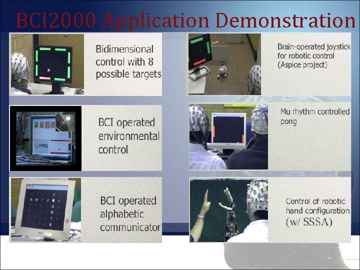 BCI 2000 Application Demonstration