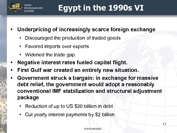 Egypt in the 1990 s VI • Underpricing of increasingly scarce foreign exchange •