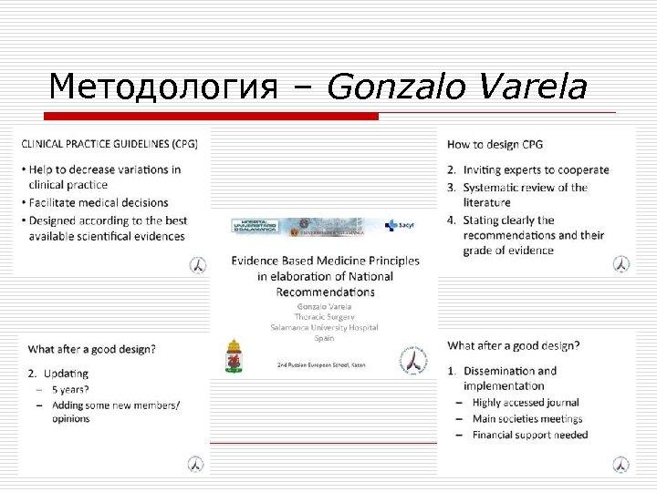 Методология – Gonzalo Varela