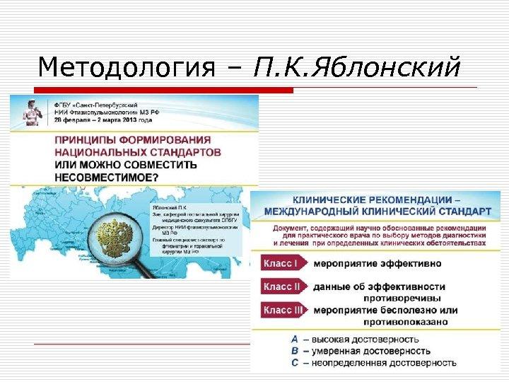 Методология – П. К. Яблонский