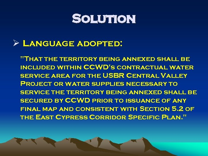Solution Ø Language adopted: