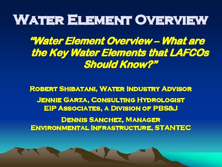 """Water Element Overview """"Water Element Overview – What are the Key Water Elements that"""