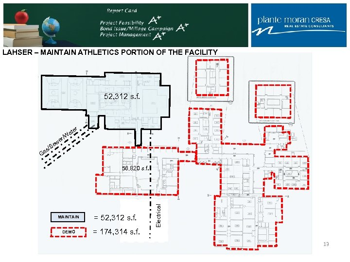 LAHSER – MAINTAIN ATHLETICS PORTION OF THE FACILITY 52, 312 s. f. r ate