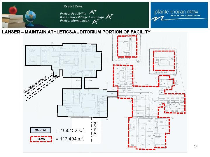 LAHSER – MAINTAIN ATHLETICS/AUDITORIUM PORTION OF FACILITY r ate MAINTAIN = 109, 132 s.