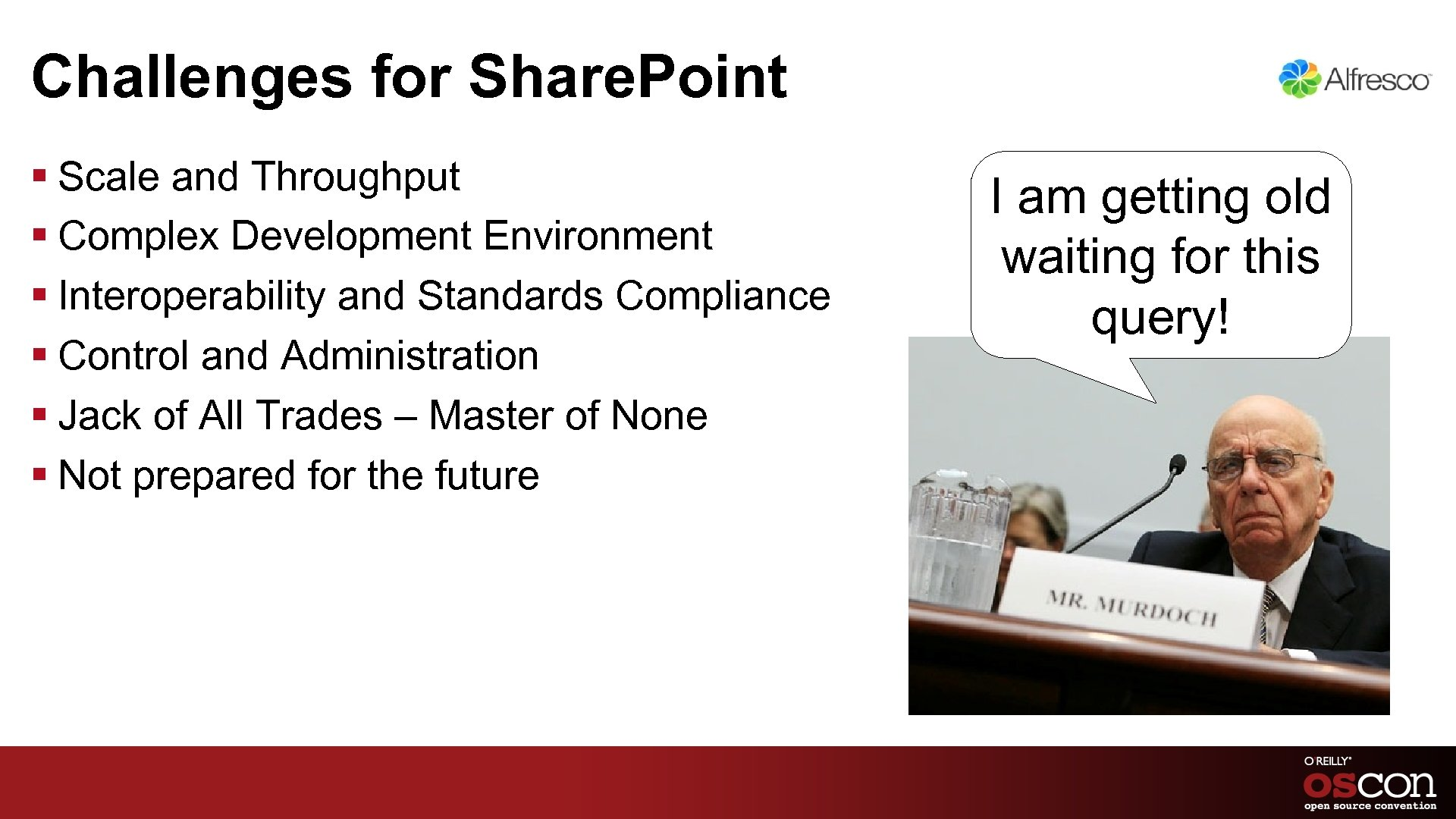 Challenges for Share. Point § Scale and Throughput § Complex Development Environment § Interoperability