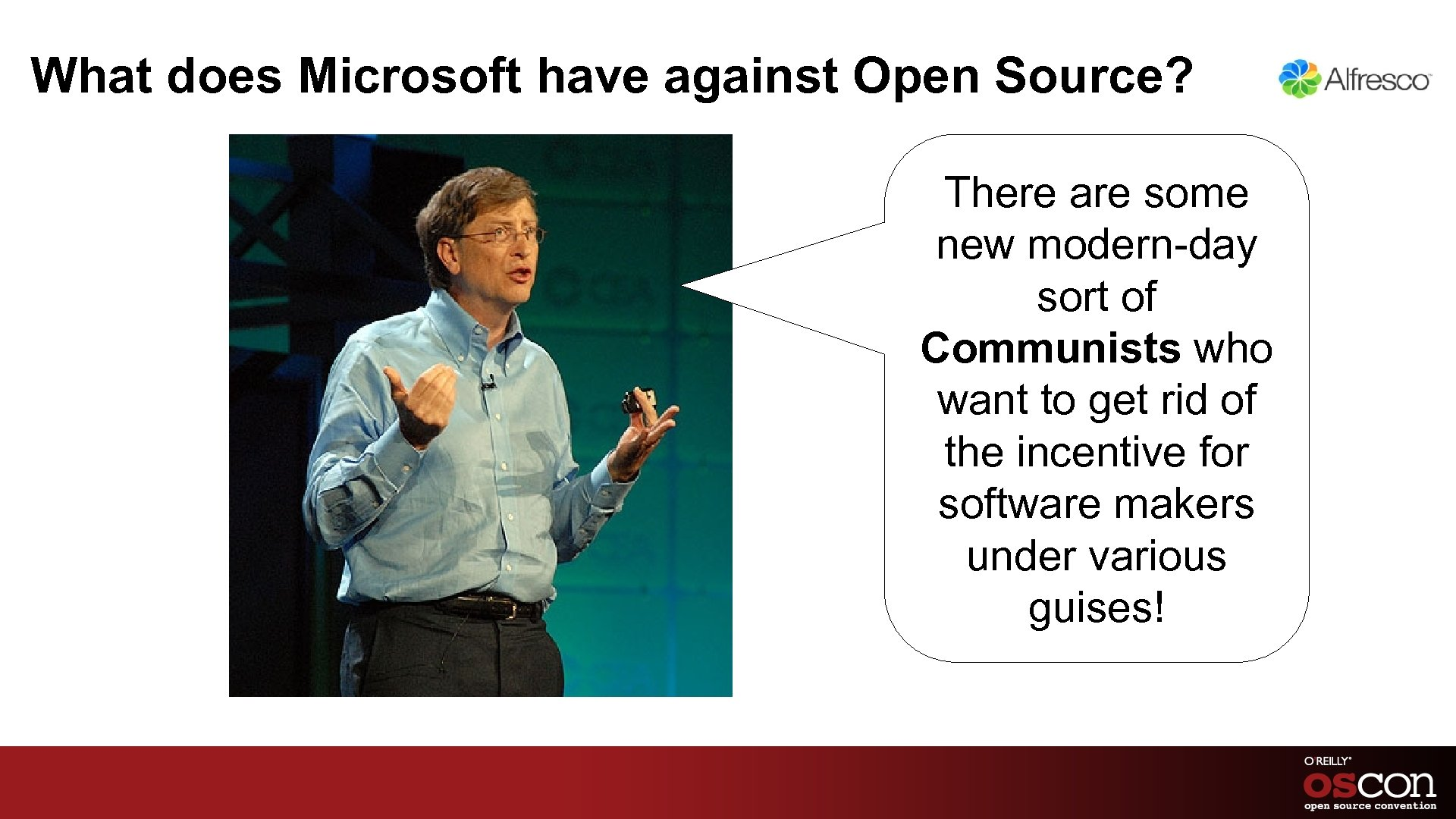 What does Microsoft have against Open Source? There are some new modern-day sort of