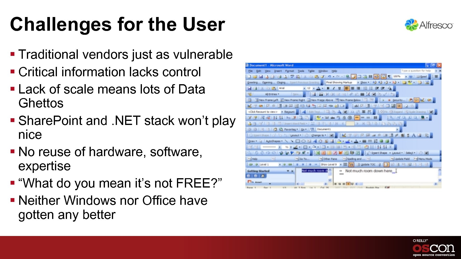 Challenges for the User § Traditional vendors just as vulnerable § Critical information lacks