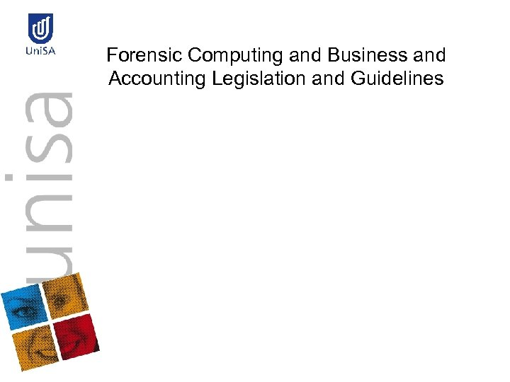 Forensic Computing and Business and Accounting Legislation and Guidelines