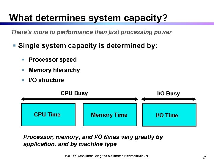 What determines system capacity? There's more to performance than just processing power Single system