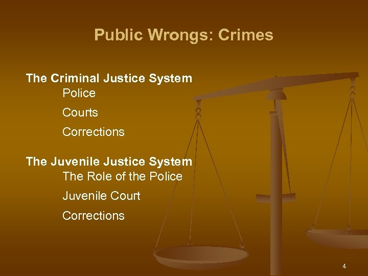 Public Wrongs: Crimes The Criminal Justice System Police Courts Corrections The Juvenile Justice System