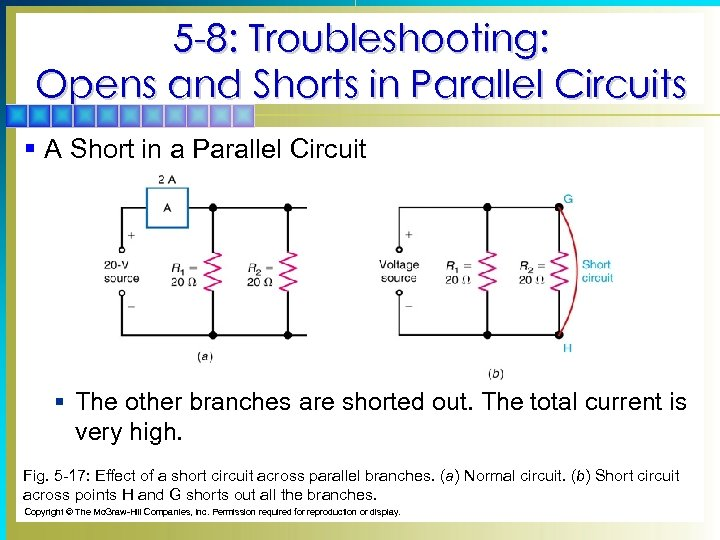 5 -8: Troubleshooting: Opens and Shorts in Parallel Circuits § A Short in a