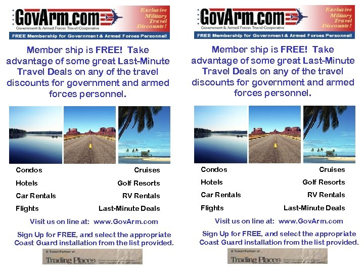 Member ship is FREE! Take advantage of some great Last-Minute Travel Deals on any