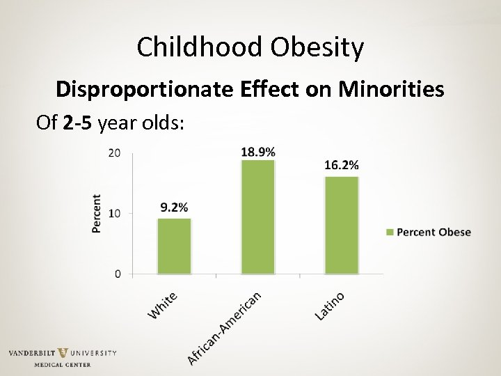 Childhood Obesity Disproportionate Effect on Minorities Of 2 -5 year olds: