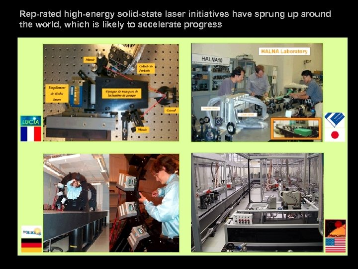 Rep-rated high-energy solid-state laser initiatives have sprung up around the world, which is likely