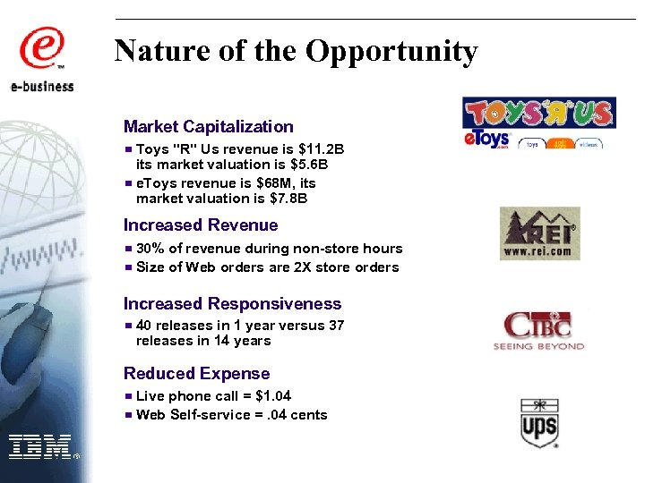 Nature of the Opportunity Market Capitalization Toys