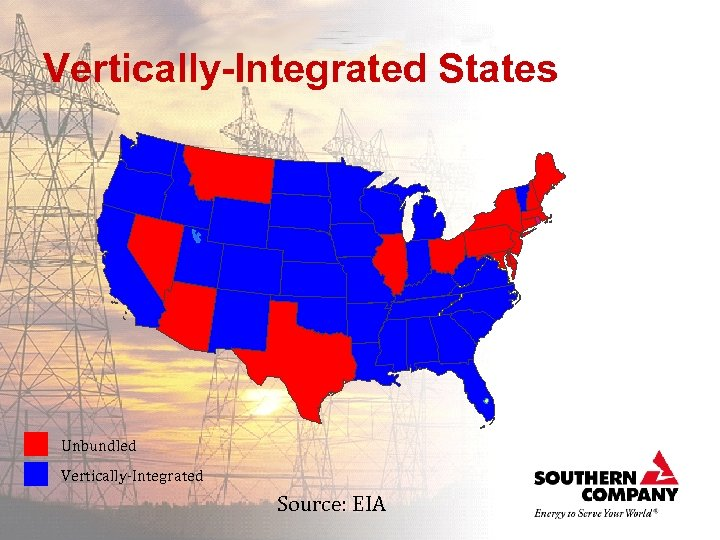Vertically-Integrated States Unbundled Vertically-Integrated Source: EIA