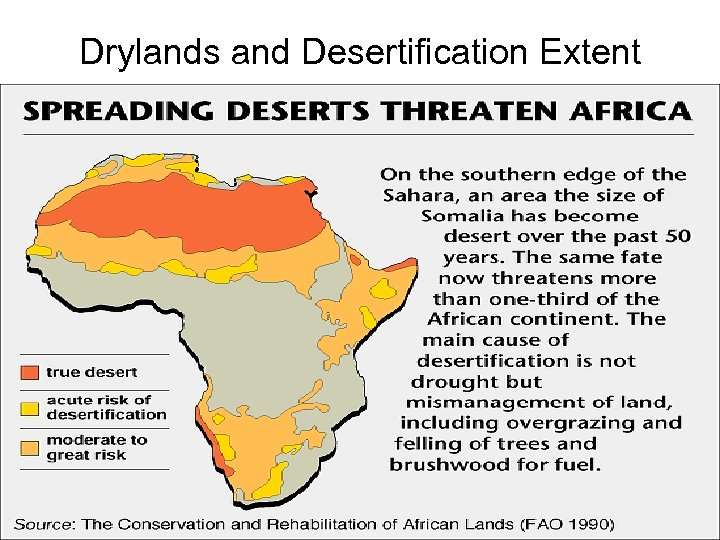 Drylands and Desertification Extent