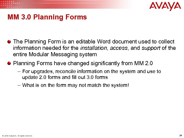 MM 3. 0 Planning Forms The Planning Form is an editable Word document used