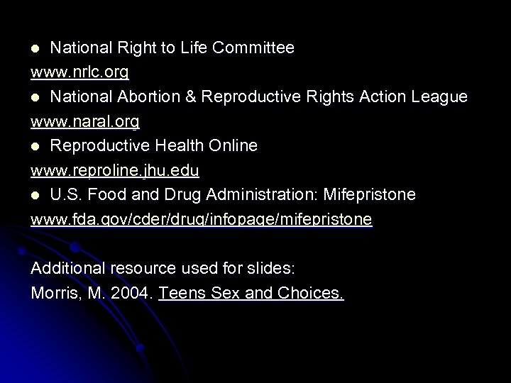 National Right to Life Committee www. nrlc. org l National Abortion & Reproductive Rights
